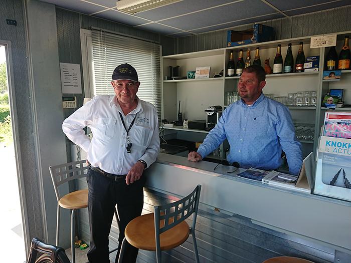 Alain en Patrick bij Knokke Heliport