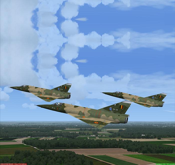 Mirage M5 B virtual flight