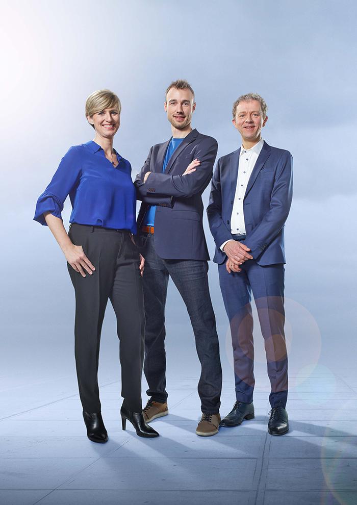 Sabine Hagedoren, Bram Vermeulen en Frank Deboosere