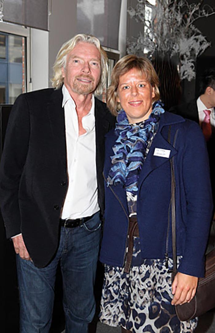 Nancy Vermeulen en Sir Richard Branson