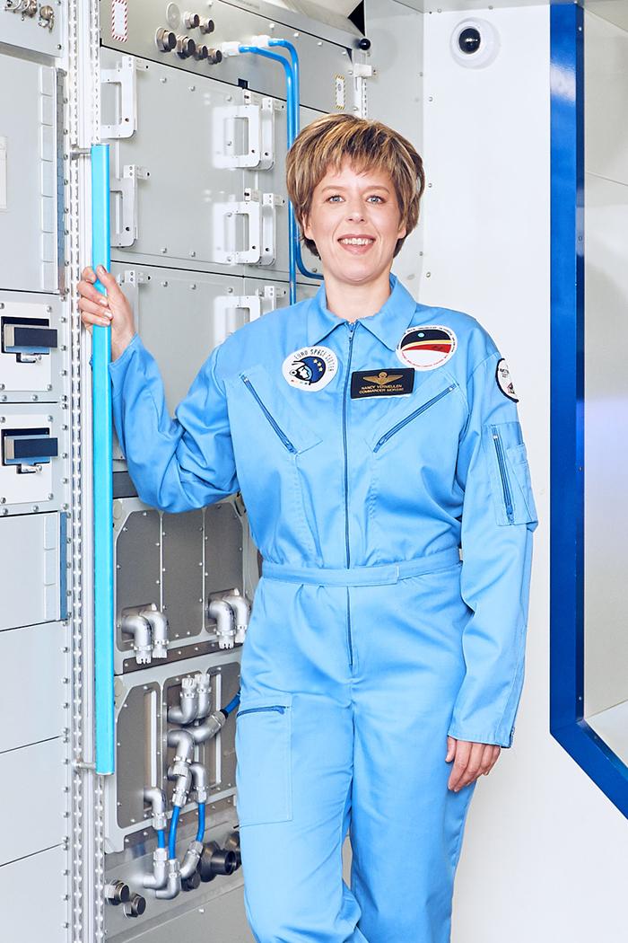 Nancy in het Spacecenter