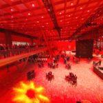 De sfeervolle opening van de vernieuwde Skyhall, januari 2020.