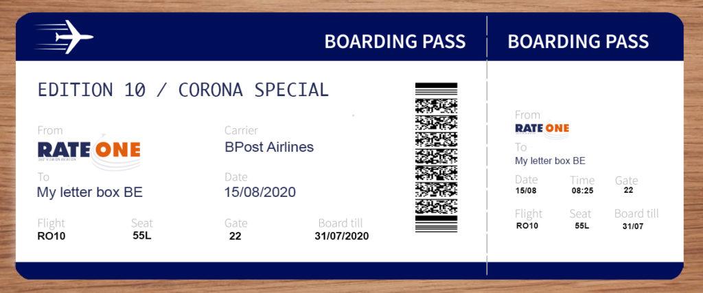 Boarding pass RateOne 10
