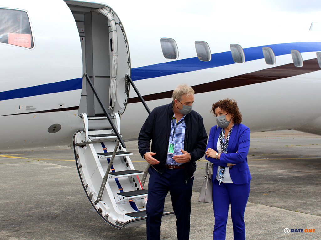 Philippe Bodson met Vlaams minister van Mobiliteit Lydia Peeters