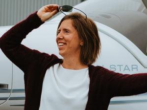 Piloot Anneleen Smits