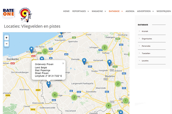 Screenshot op RateOne website