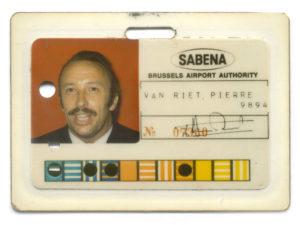 Badge Sabena Piet Van Riet