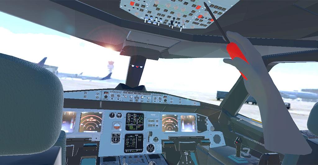 Zo ziet een virtuele cockpit eruit