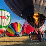 Vertrekkende luchtballonnen