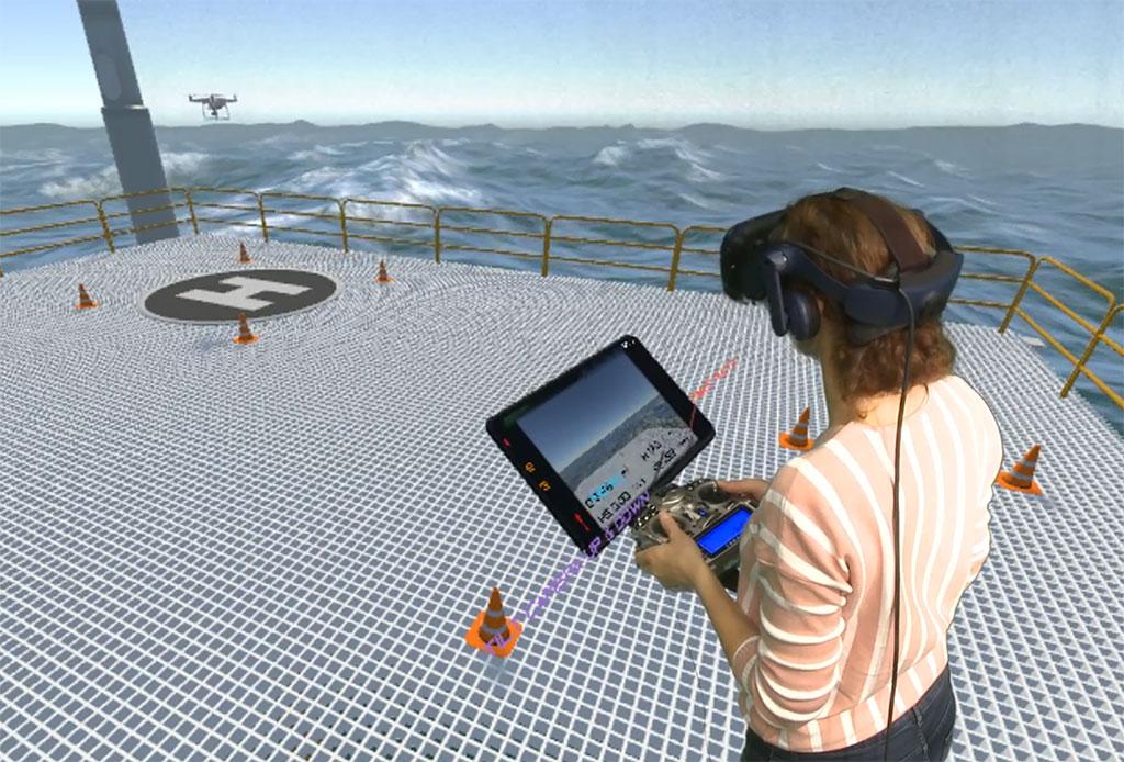 VR drone simulatie