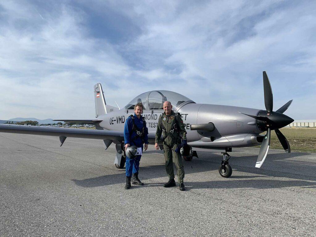 Testvlucht door kolonel-vlieger Patrick Goossens