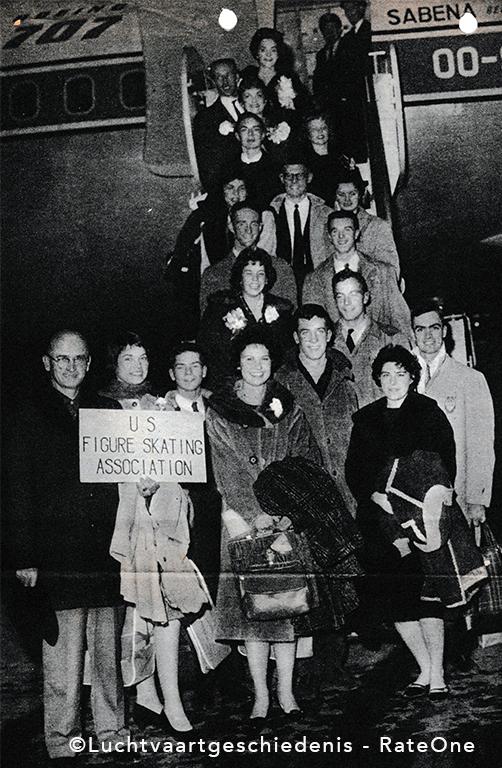Vertrek vlucht 548 Sabena op 15 februari 1961