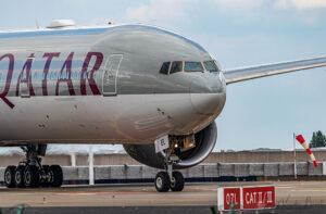 Qatar Airways op Brussels Airport