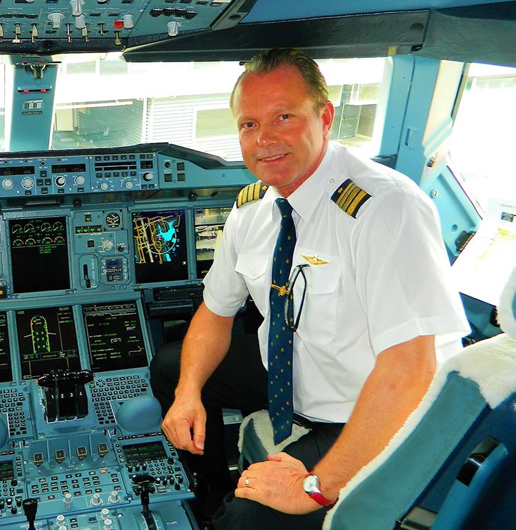 Piloot Patrick De Roeck A380